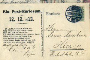 Front of the postcard from 1912